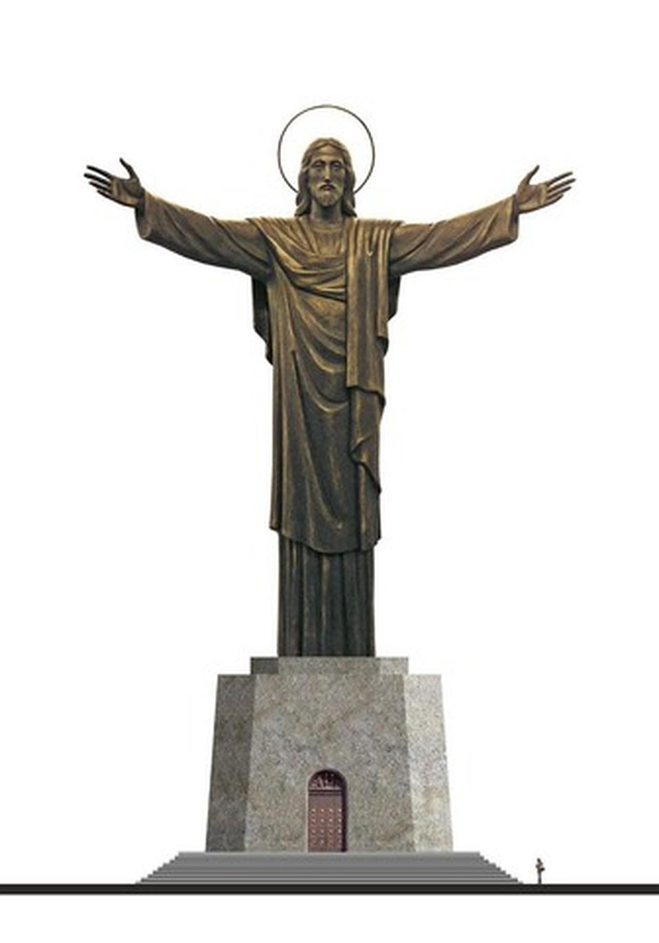 пушной зверек статуя христа церетели фото раздельное скрепление, рельс